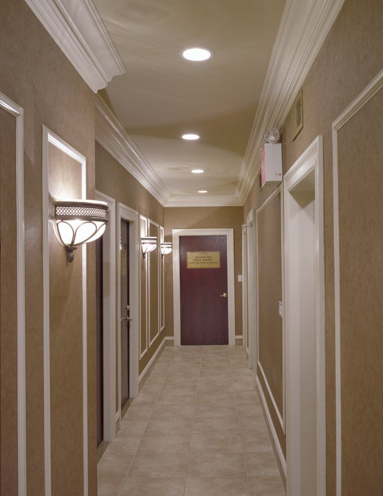 Pavilion Medical Building hallway with exam rooms off it