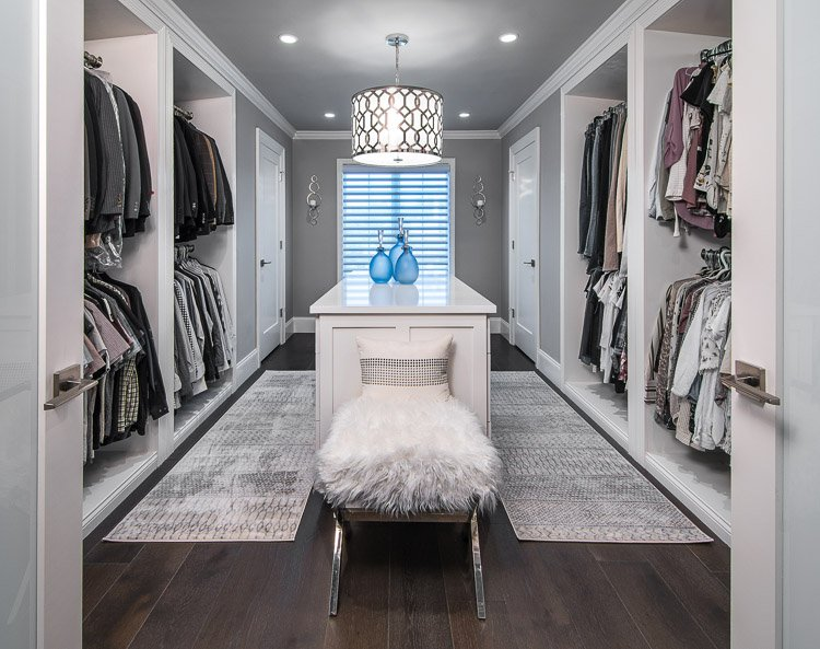 Dressing room with lots of closet space