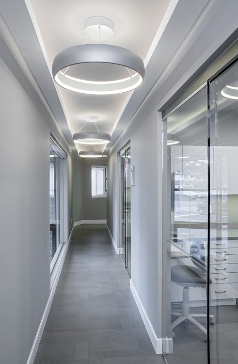 Corridor in dental office