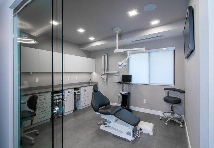 Exam room in dental office