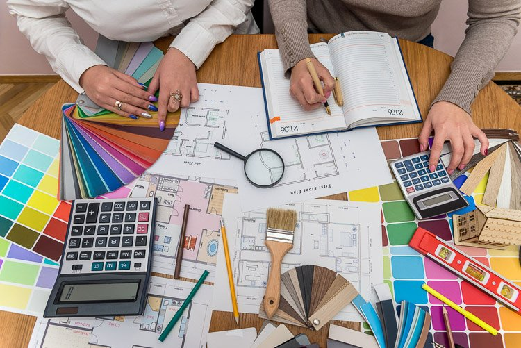 Interior Design Process with lots of design selections